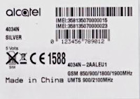 TCL IMEI